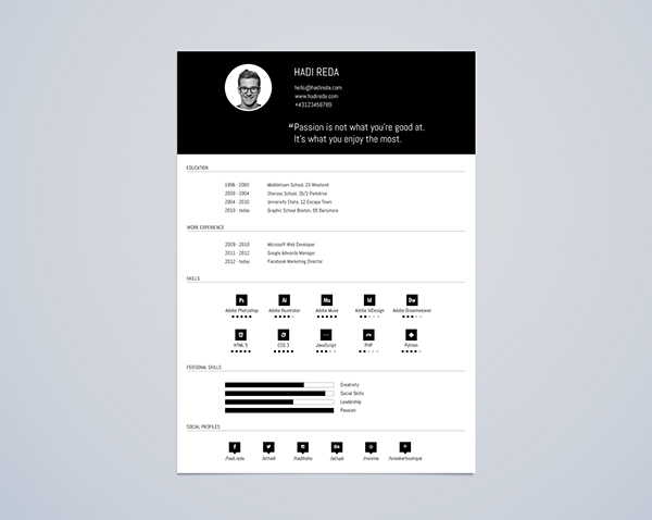 Resume Free Templates | 75 Best Free Resume Templates Of 2019
