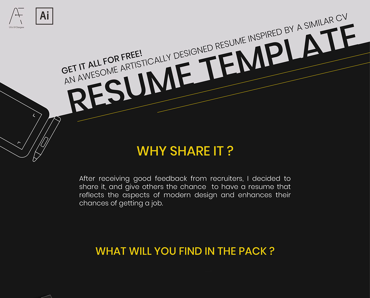 Free Digital Resume Template