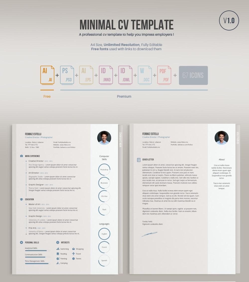 Free Minimal CV Template