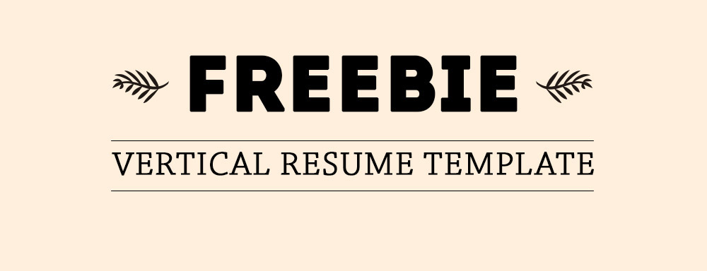 Freebie - Vertical Resume Template