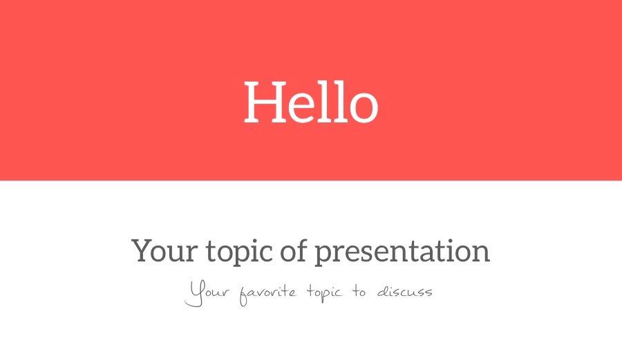Hello PowerPoint Template