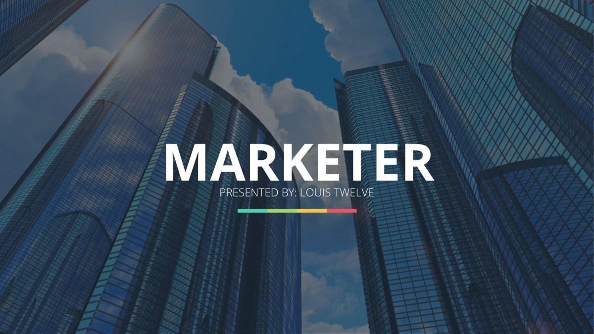 Marketer Pro PowerPoint Template