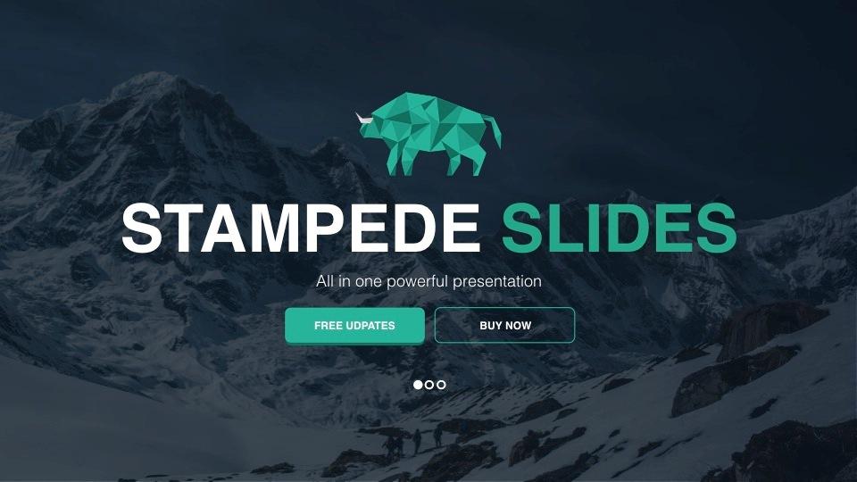 Top 100 best powerpoint templates of 2018 stampede powerpoint template toneelgroepblik Images
