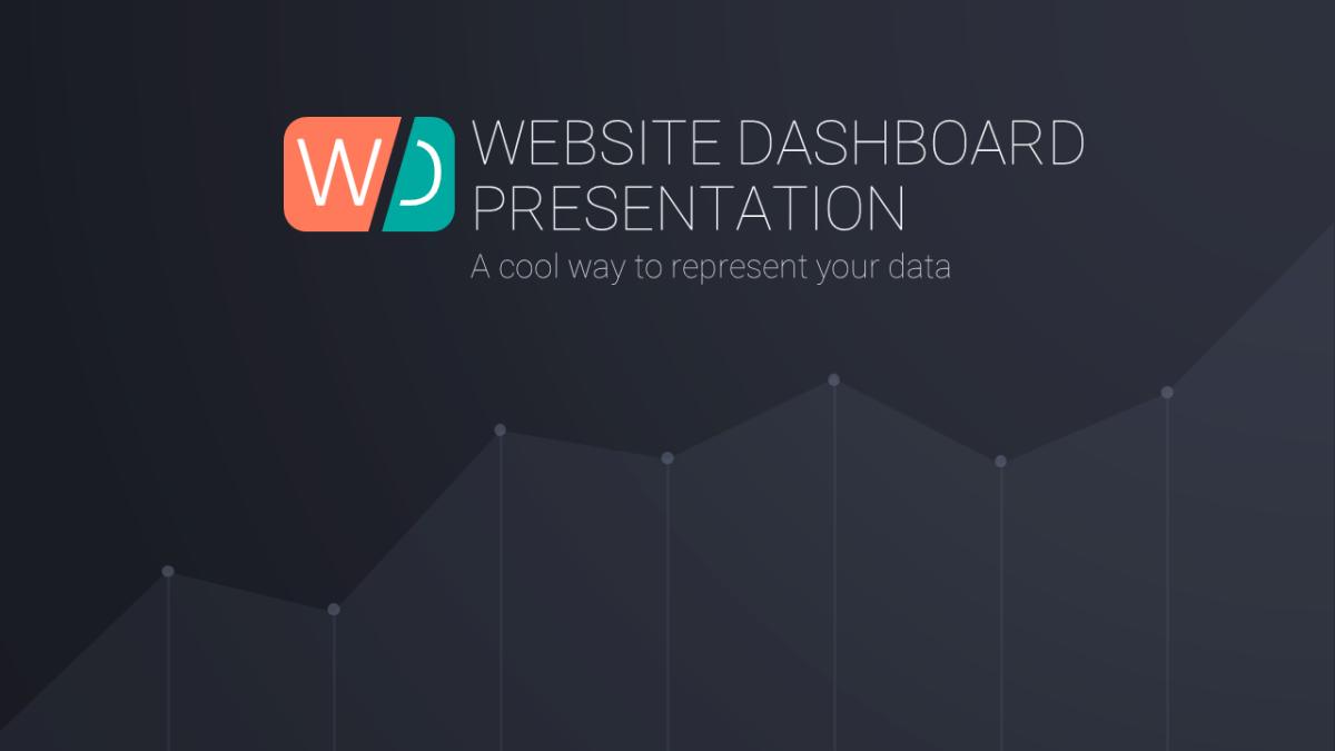 Website Dashboard PowerPoint Template