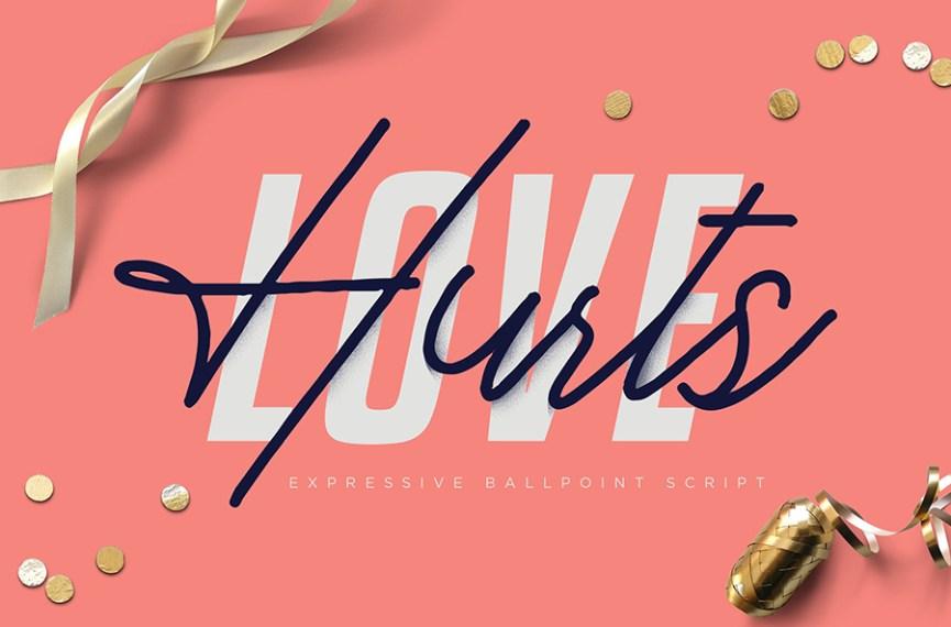 01 - Love Hurts Script Font Demo