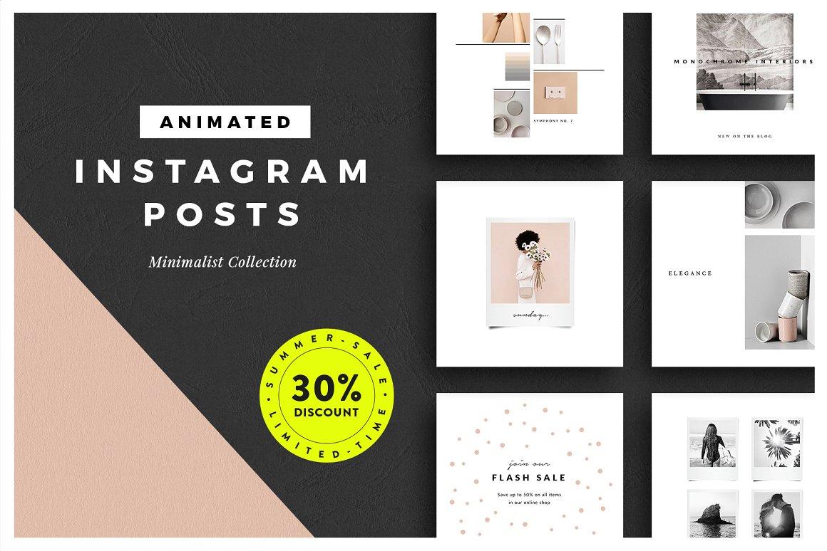 24. ANIMATED Minimalist Instagram Posts