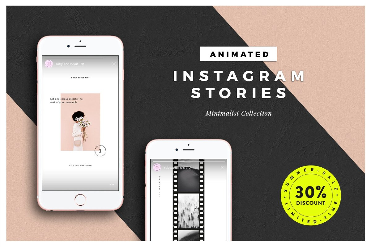 25. ANIMATED Minimalist Insta Stories