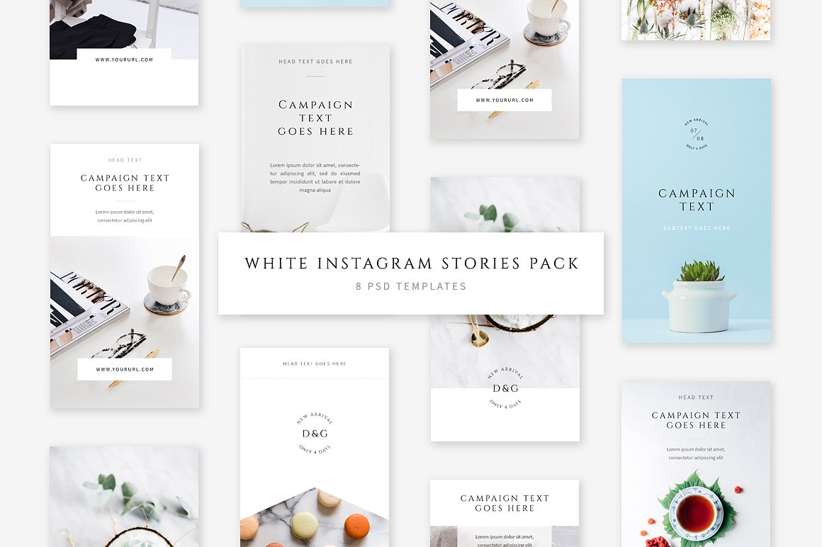 38. White Instagram Stories Pack