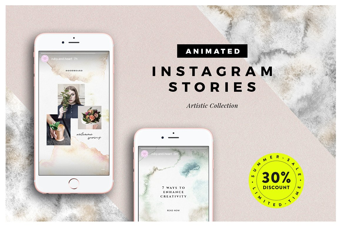 41. ANIMATED Artistic Instagram Stories