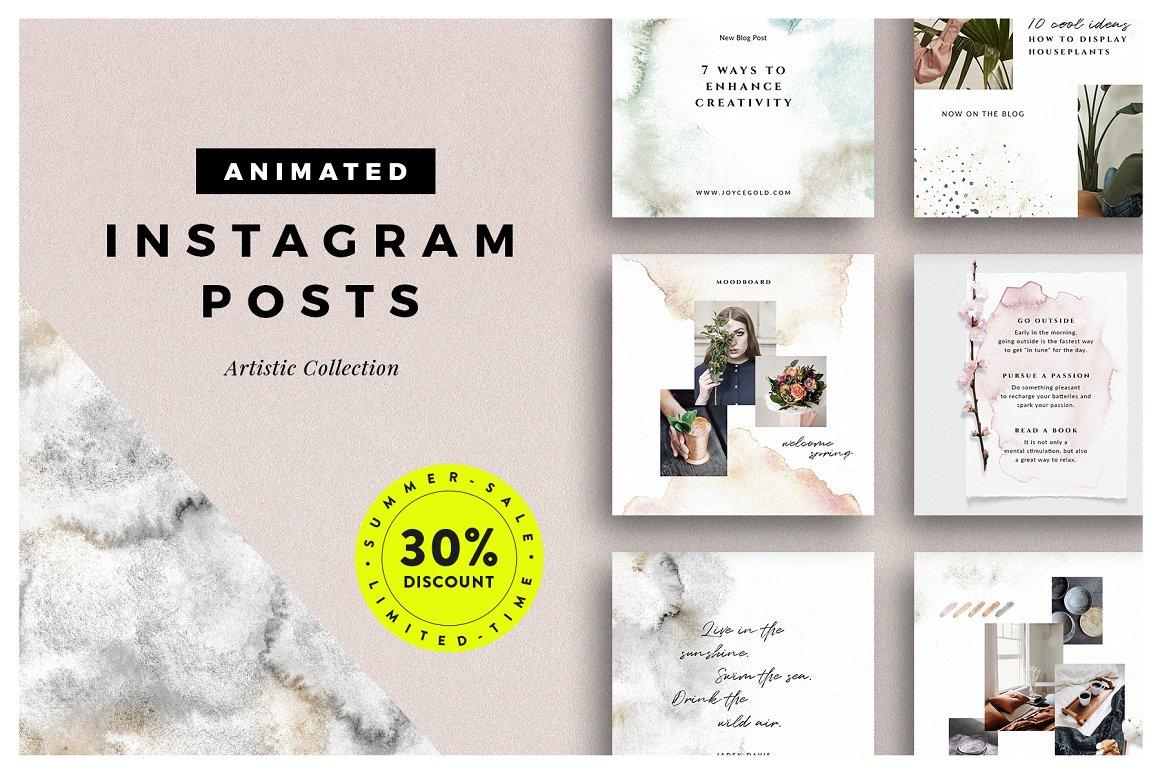 53. ANIMATED Artistic Instagram Posts