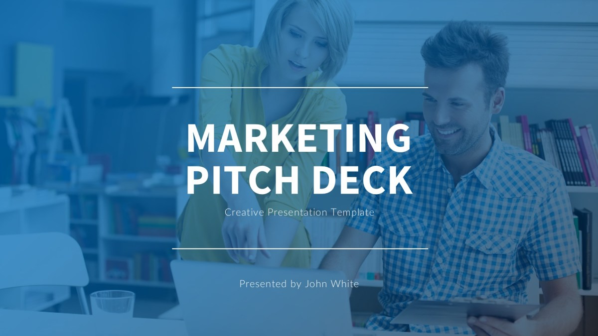57 - Marketing Pitch Deck Google Slides Template