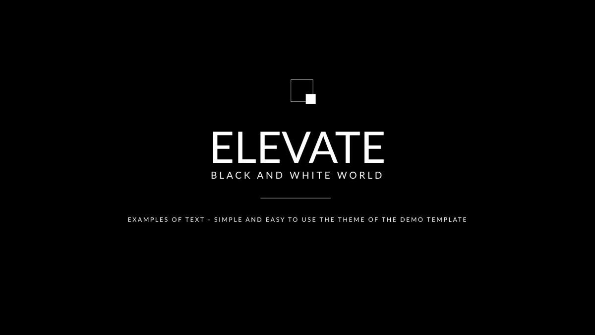 6. Black White Clean Keynote Template