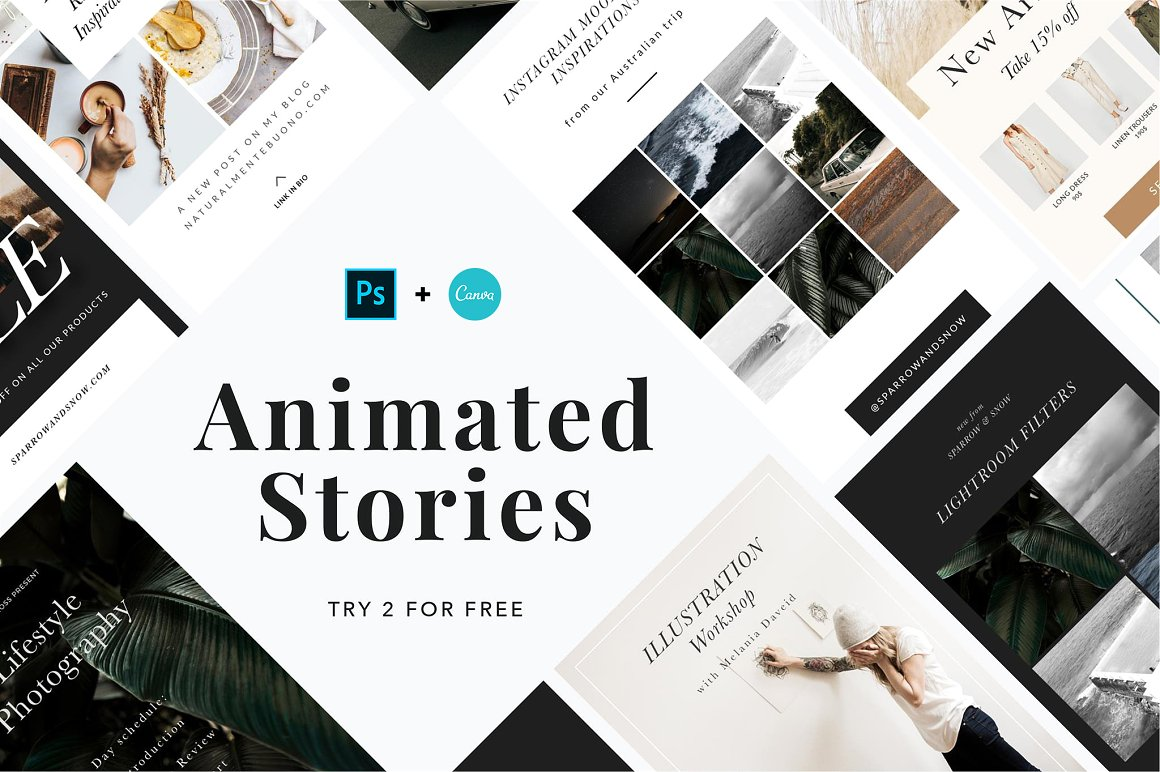 9. ANIMATED Stories Templates