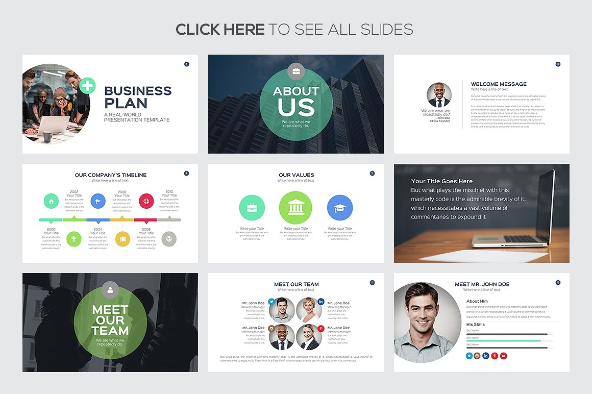 Business Plan Google Slides Templates 2