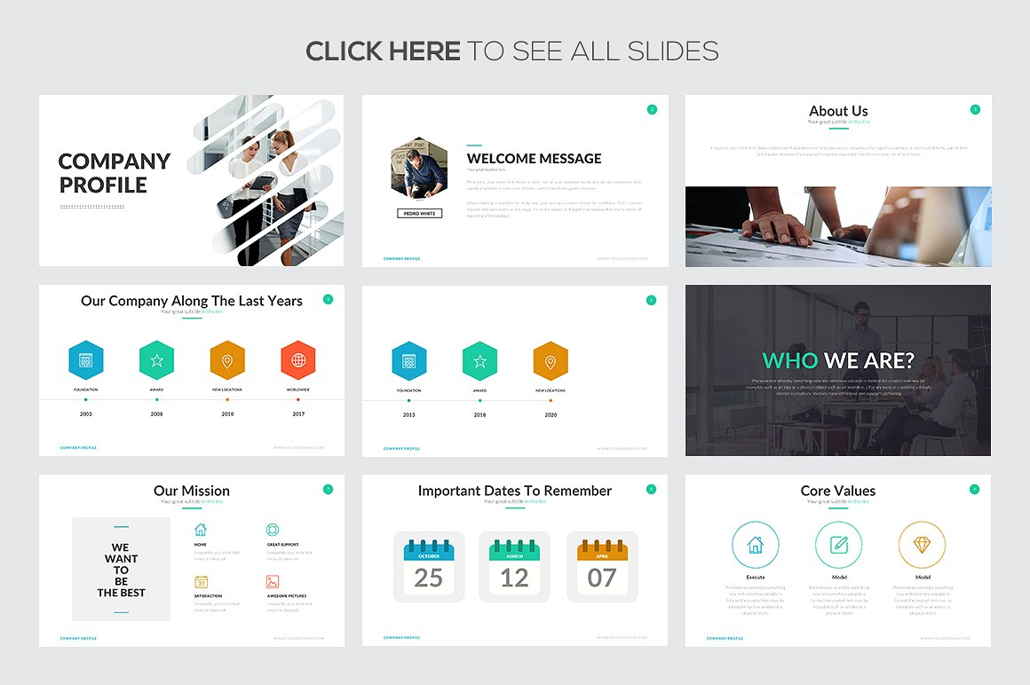 Company Profile Google Slides Template 2