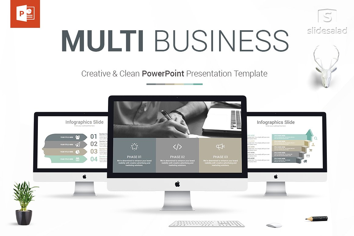 10. Multi Business PowerPoint Template