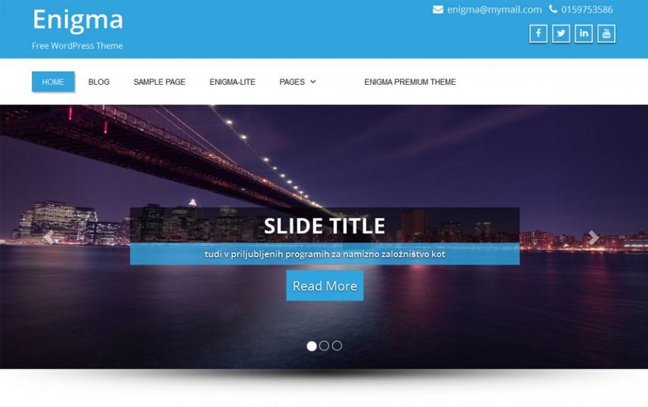 11 - Enigma Free Portfolio WordPress Theme
