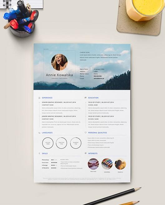 14. Free Minimalistic Resume CV Illustrator
