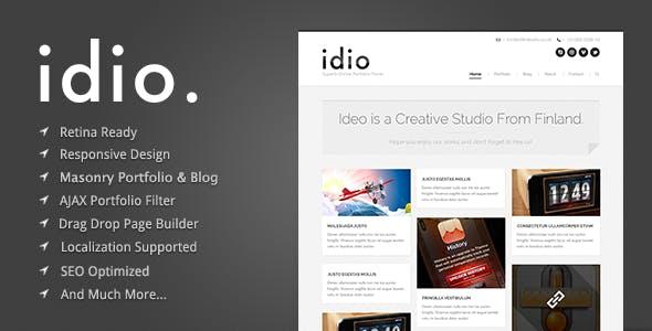 16 - Idio - Minimalistic WordPress Portfolio Theme