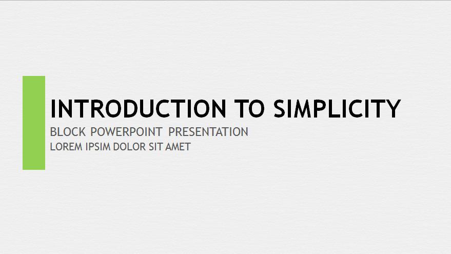 18. Swiss Block PowerPoint