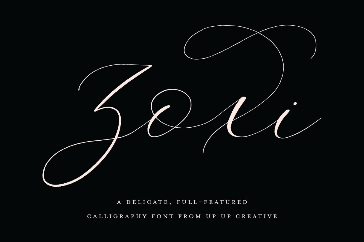 18. Zoxi, a Calligraphy Script Font