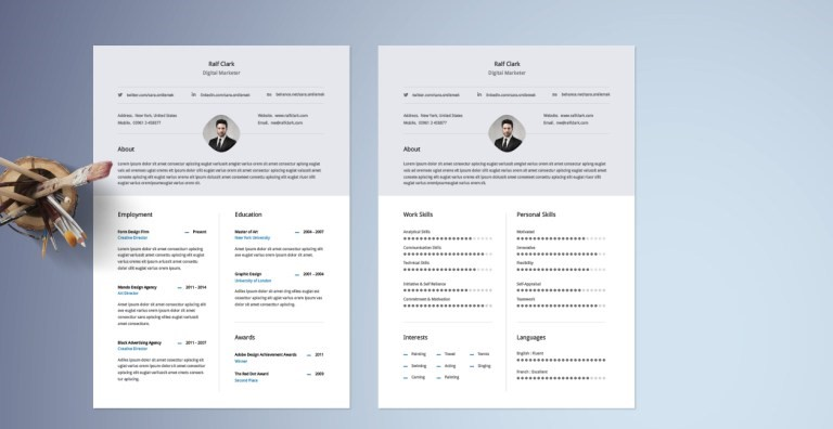 2   Free Classy Resume Template