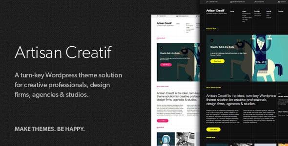 20 - Artisan Creatif - A WordPress Portfolio Theme
