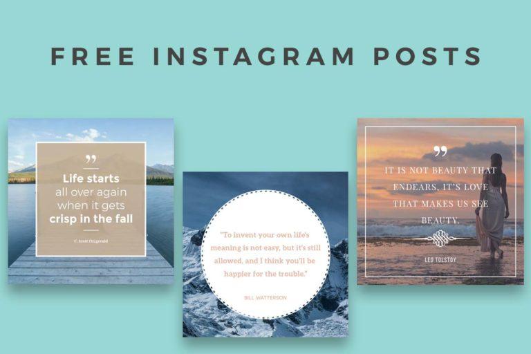21. Free Instagram Posts Templates PSD