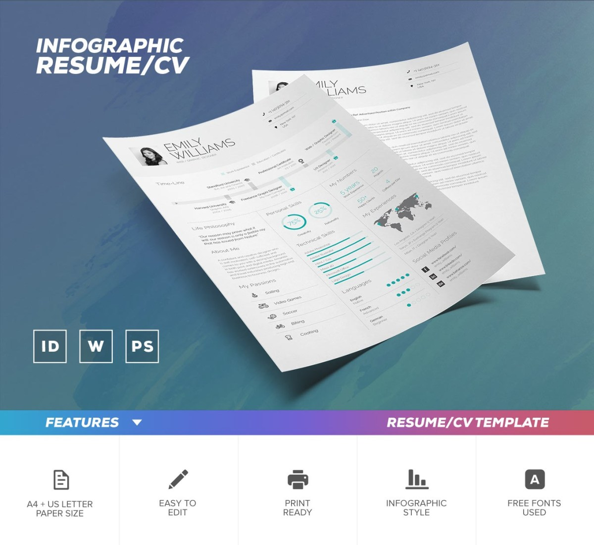 21. Infographic Resume Template