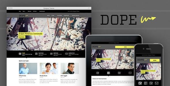 22 - Dope, a Responsive WordPress Portfolio Theme