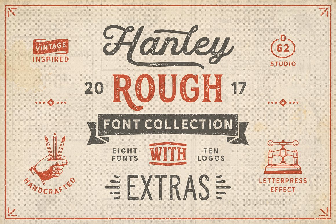 22. Hanley Rough Font Collection