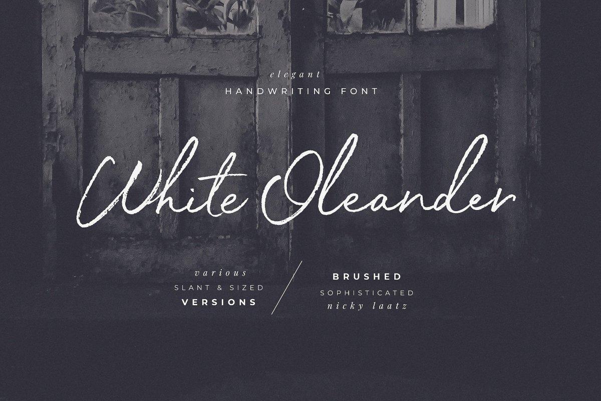 23. White Oleander Handwritten Font