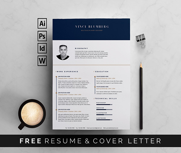 27. Free Resume Template & Cover Letter