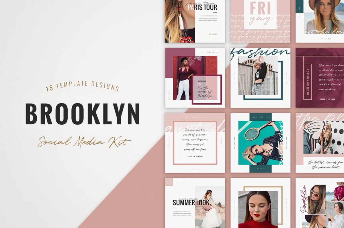 28. Brooklyn Instagram Templates
