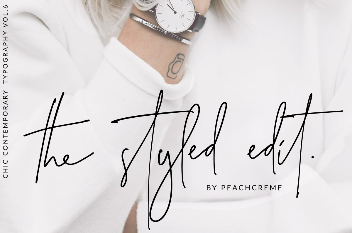 29. The Styled Edit - Chic Ligature Font