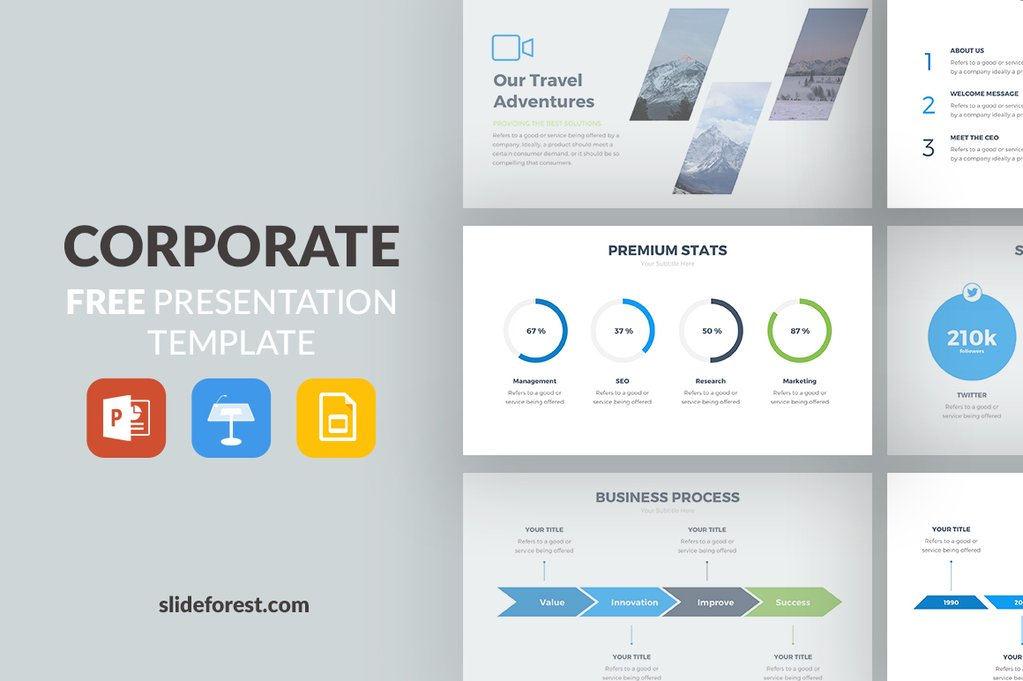 3 - Corporate Free Presentation Template
