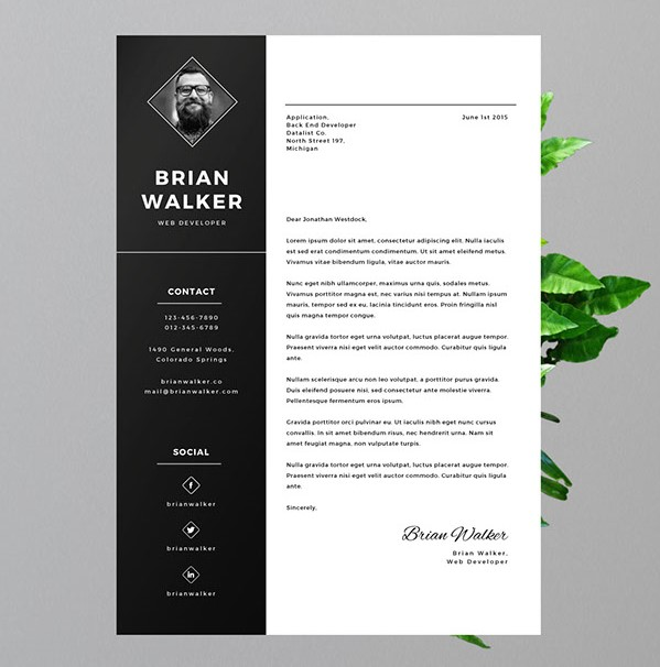 3 - Free Resume for Word, Photoshop & Illustrator
