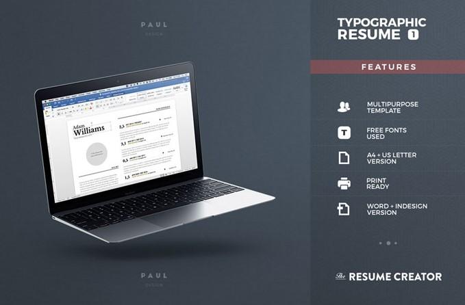3 - Typgraphic Resume Template