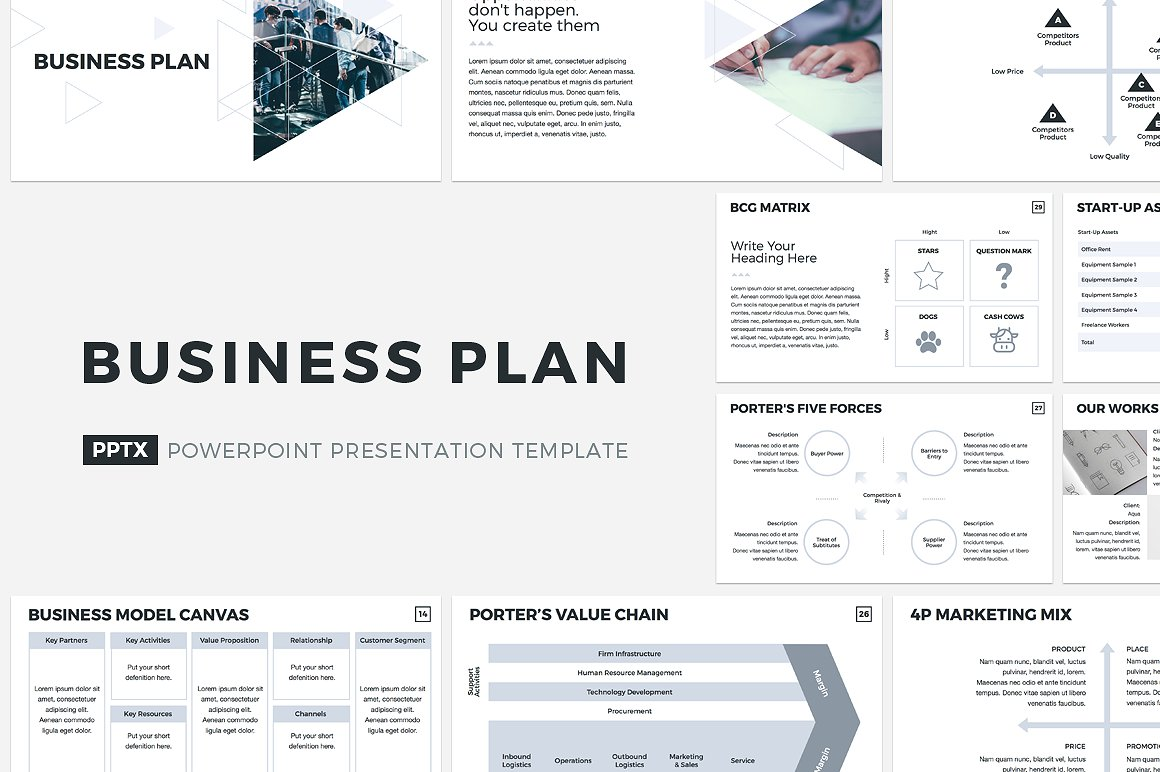 buiness plan powerpoint template
