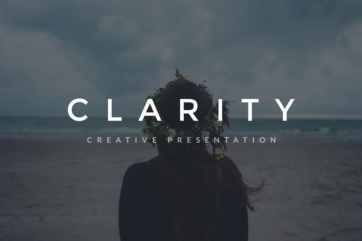 35. Clarity Keynote Template + A4