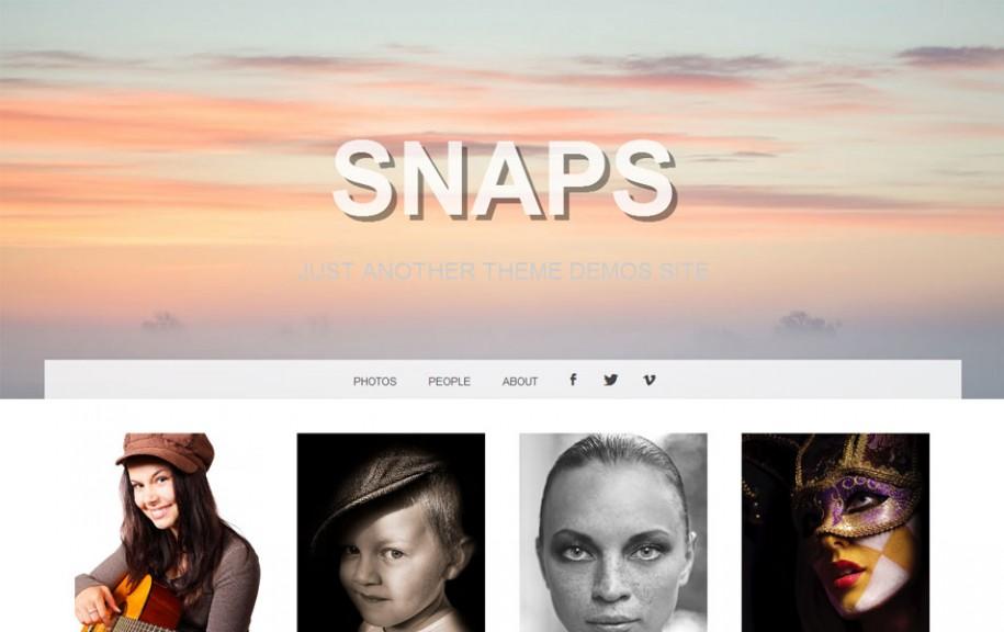 36 - Snaps Free Portfolio WordPress Theme
