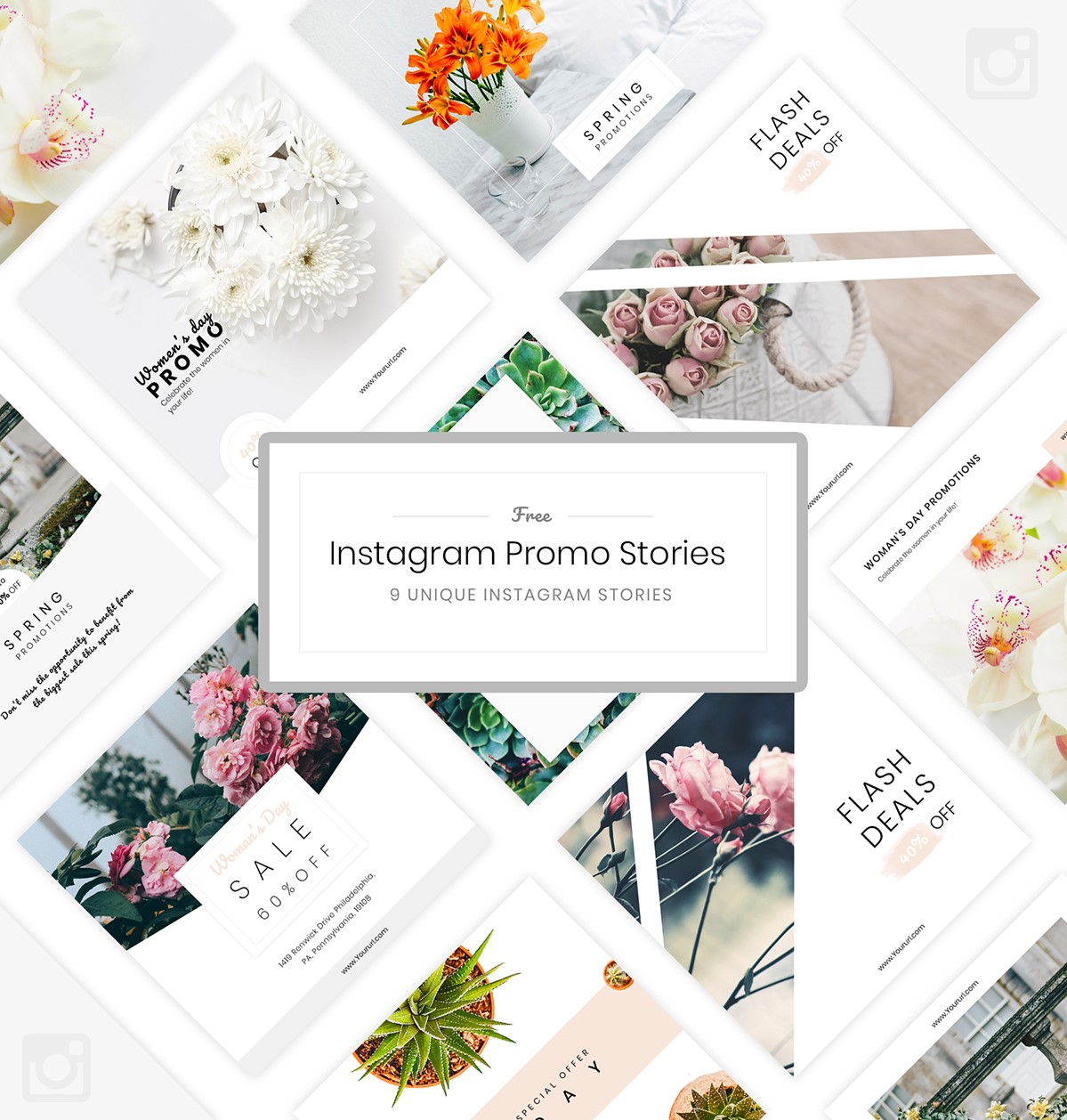 50 Free Instagram Stories Template PSD