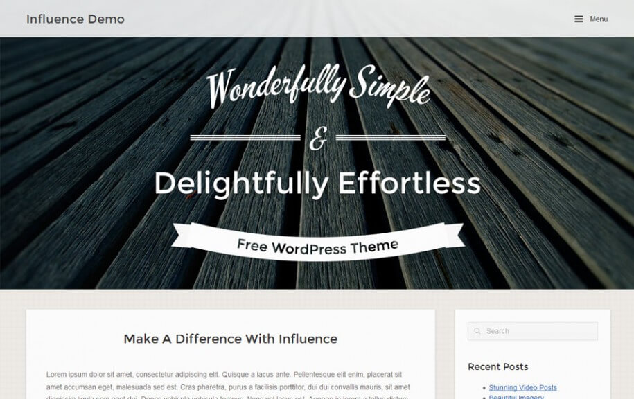 41 - Influence Free Photography WordPress Theme