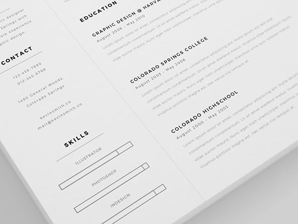 5 - Free Clean and Minimal Resume Template