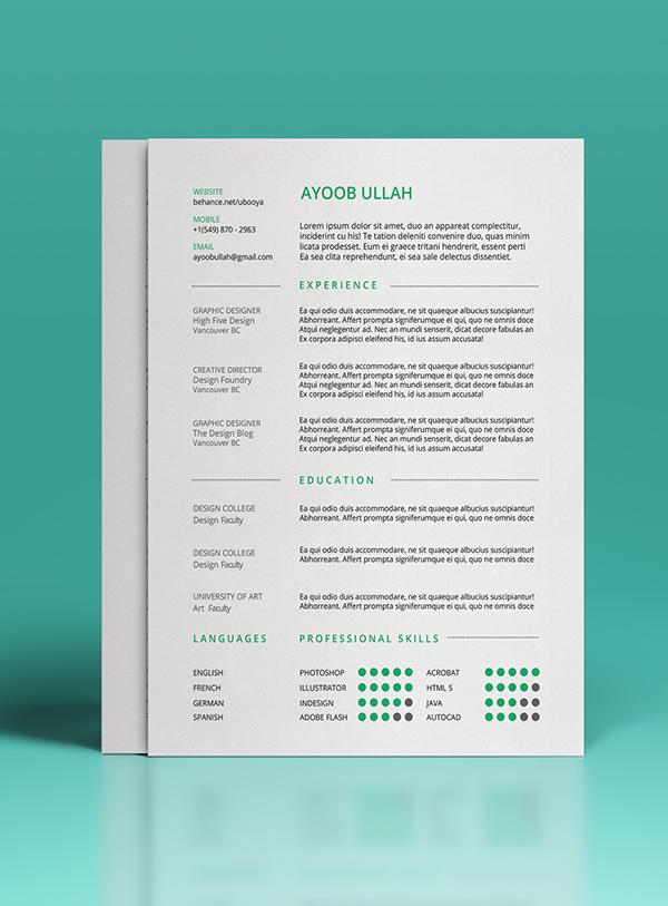 7. Free Resume Template