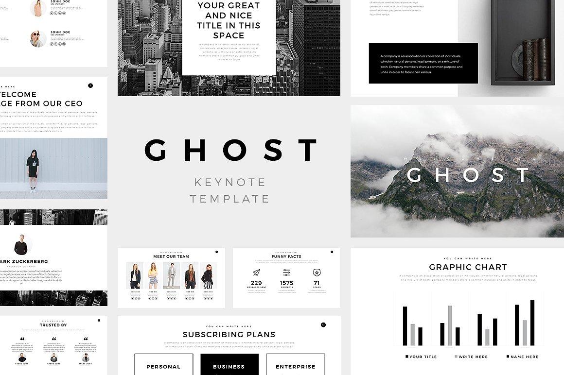 Ghost Minimal Keynote Template
