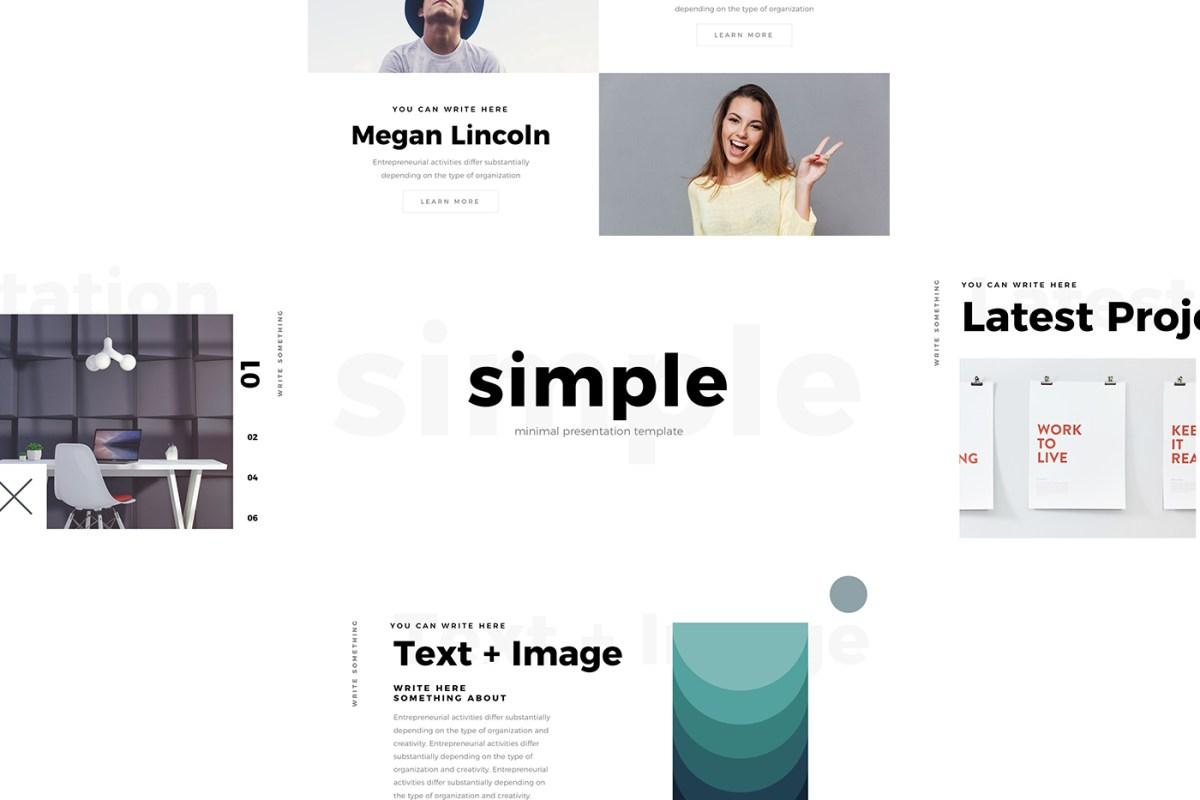 Simple Free Minimal PowerPoint Template by Louis Twelve