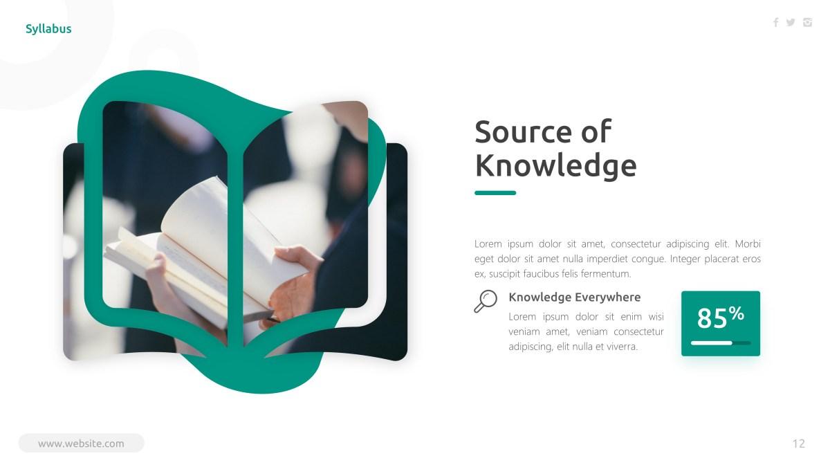 Syllabus - Education PowerPoint Template 3