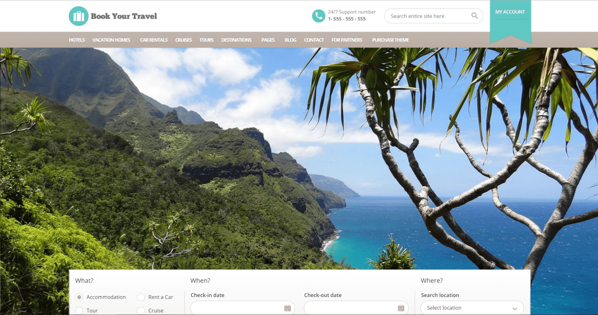 21. Book Your Travel - Online Booking WordPress Theme