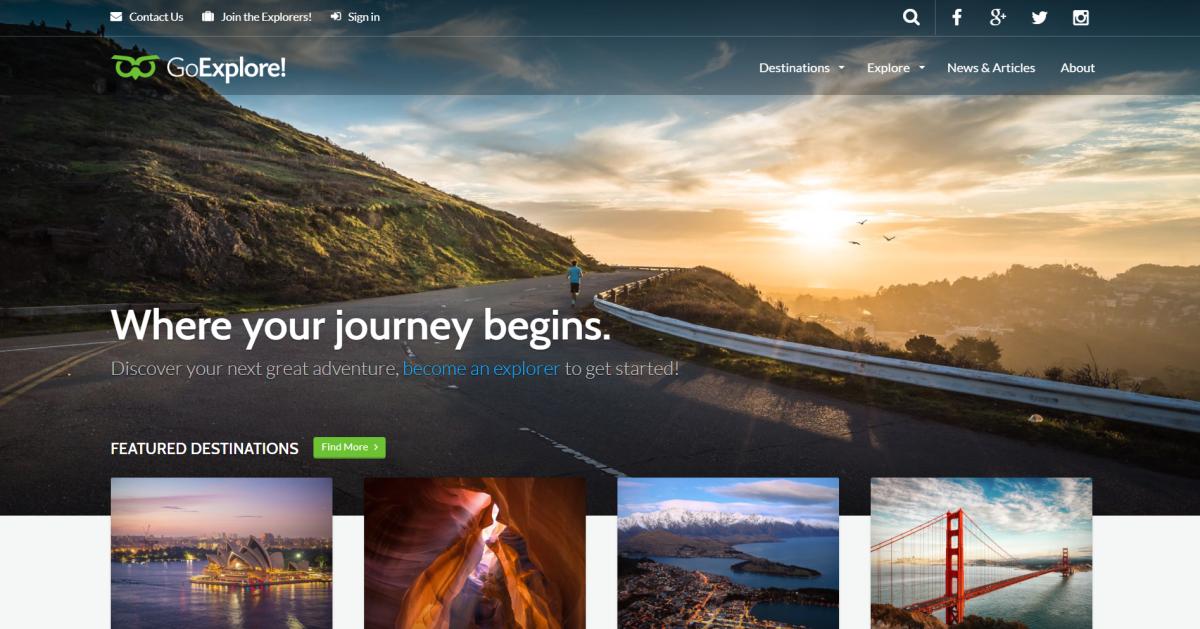 48. Travel WordPress Theme - GoExplore!